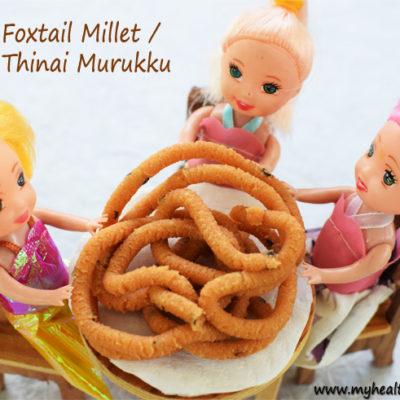 Foxtail Millet Murukku | Thinai Murukku