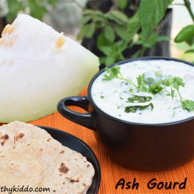 Raw Ash Gourd Raita