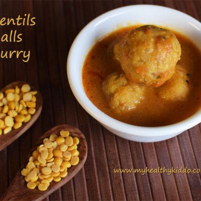 Paruppu Urundai Kuzhambu | Lentils balls curry | Urundai kulambu recipe