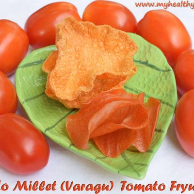 Kodo Millet Tomato Fryums | Varagu Thakkali Vadagam | Varagu ilai vadaam Recipe | Millet vadaam using banana leaf