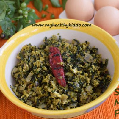 Manathakkali Keerai Muttai Poriyal | Black Night Shade Egg Fry | Sukuti Keerai Mutta Poriyal