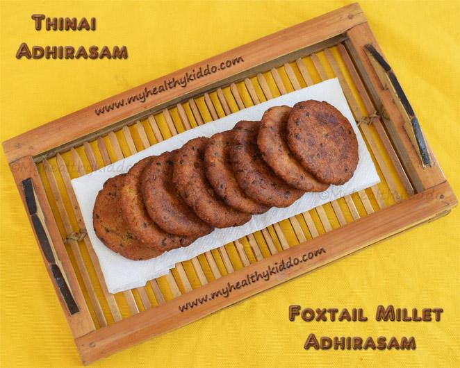 Foxtail millet adhirasam recipe