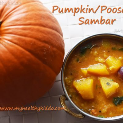 Pumpkin sambar recipe | Poosanikai sambar