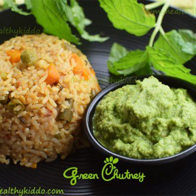 Green chutney recipe | Green chutney for vegetable biriyani