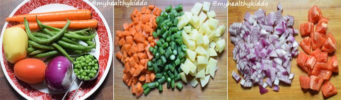 how to make vegetable sambar for rice