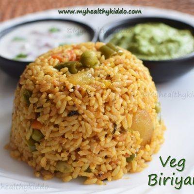 vegetable biriyani using jeeraga samba rice | south indian veg biriyani recipe