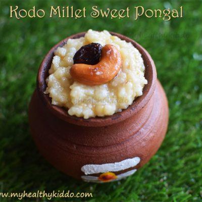 varagu sakkarai pongal | kodo millet sweet pongal recipe