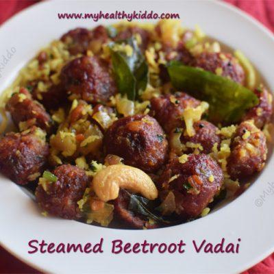 steamed beetroot vadai recipe | steamed vadai