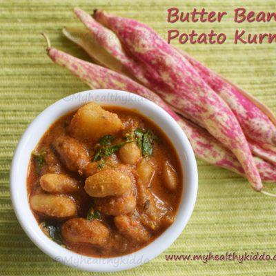 butter beans kurma | butter beans potato gravy
