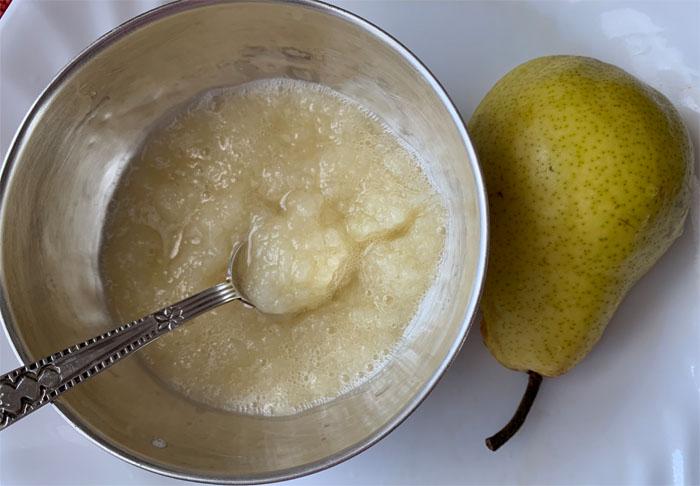pear puree boiled