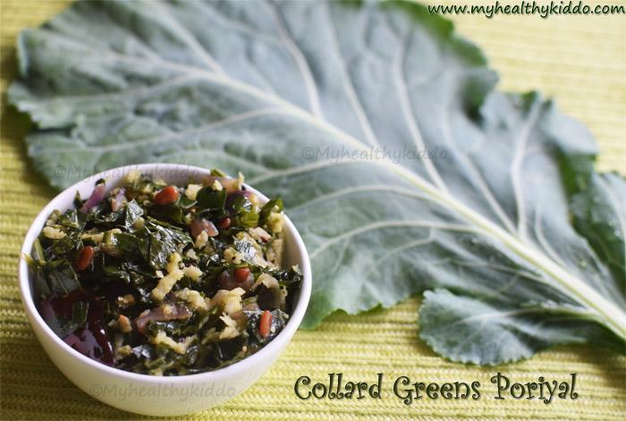 collard greens poriyal